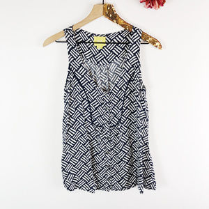 [MAEVE] Anthropologie Scribble Button Front Tank